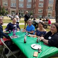faculty and staff in CEHD 2018 picnic